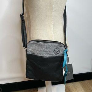 NWT pistil shoulder bag messenger black gray